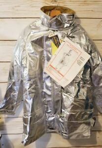 New W Tags Lion Janesville Firefighter Proximity Jacket Bunker Turnout Large