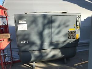 Atlas Copco Gx18 25hp Air Compressor