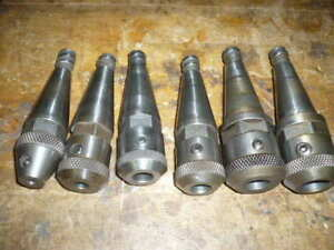 Moore Jig Borer Collet Tool Holder End Mill Holder Lot Of Six Different