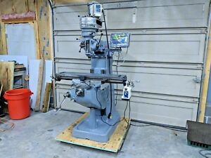 Bridgeport 1hp J head Refurbished Milling Machine W Dro Power Feed Vfd
