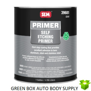 Sem 39681 Self Etching Primer Gray Auto Body Paint Prep Coat 1 Gallon