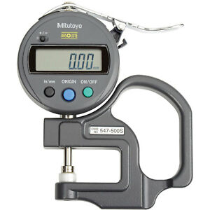 0 47 0 12mm Digimatic Digital Thickness Gage 005 Resolution Lot Of 1