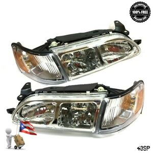 93 97 For Toyota Corolla Chrome Headlights Corner Lamps Set Jdm Glass 4 Pcs