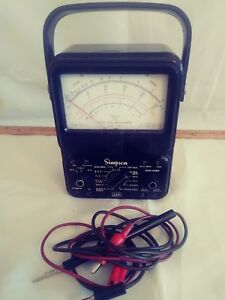 Simpson 260 Series 5m Volt Ohm Voltage Multi Meter