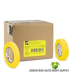 3m 06652 06654 Crepe Paper Automotive Refinish Yellow Masking Tape 6652 6654