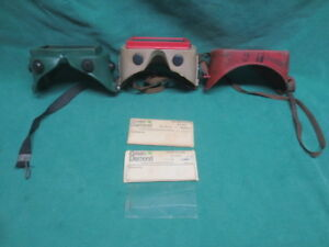 Vtg Safety Welding Goggles Glasses W replacement Lenses Motorcycle Biker
