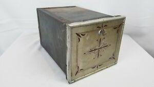 Vintage In Wall Mail Po Box Steel Storage Box With Key Lock Box