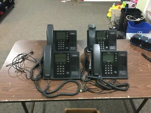 Lot Of 4 Polycom Cx600 Microsoft Lync Poe Voip Business Phone 2201 15942 001