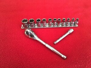 Made In Usa Craftsman 13 Pc 1 4 Sae Dual Marked Napa Ratchet