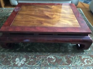 Great Rare Henredon Asian Ming Style Coffee Table Beautiful Two Tone Finish