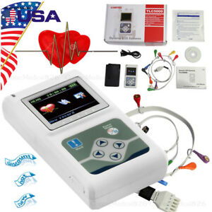 24 Hours Dynamic Ecg Holter Ekg Holter Monitor 12 Channel Recorder Pc Software