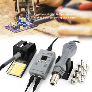 8878d 2 In1 Smd Rework Station W Hot Air Gun Soldering Iron For Phone Repair