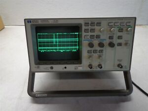 Hp 54600a 100mhz Oscilloscope With 54652a Parallel Interface Module