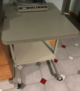 Anthro Office Mobile Cart Computer Table Large Casters