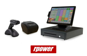 Restaurant Point Of Sale System Rpower Pos Hardware Bundle W Wireless Scanner