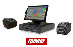 Restaurant Point Of Sale System Rpower Pos Hardware Bundle W Kitchen Printer