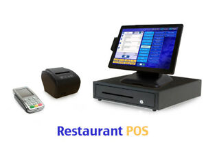 Restaurant Point Of Sale System Pos Software Bundle W Payment Pinpad