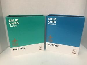 Pantone Plus Series Solid Chips Coated And Uncoated 99 Unused Read Graphic Arts