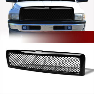 Black Abs Front Hood Grille Mesh Grill Guard Fit 94 02 Dodge Ram 1500 2500 3500