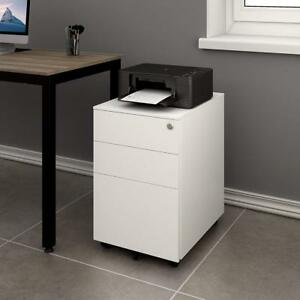 Devaise 3 Drawer Mobile File Cabinet With Lock Mobile Pedestal Cabinet Office
