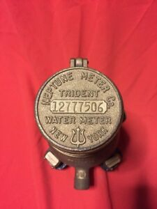 Excellent Condition Trident Neptune Water Co Meter 5 8 Steampunk Vintage