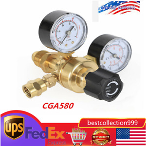 Argon Co2 Regulator Flowmeter Gas Pressure Gauge Mig tig Welding Cga580 Best