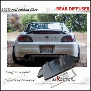 Carbon Fiber Js Racing Style Rear Diffuser With Metal Fitting Kits For S2000 Ap1