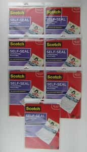 7 Packs Of 10 Scotch 3m 8 5 X 11 Self seal Laminating Pouches ls854 10g