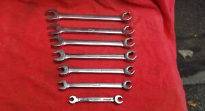 Snap On Sae Flare Wrench Set 7 Pc Rxs Rxh Usa