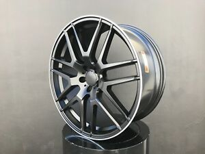 22x10 Inch Wheels Rims 5x112 50 Black For Mercedes Gl Gla Gle Glk Ml Mlk Amg