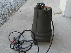 New Teel Submersible Sewage Pump 3p650a Single Phase 1725 Rpm 110v 2 Discharge