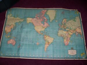 Vintage Hammond S Interntional Map Of The World On Mercator S Projection