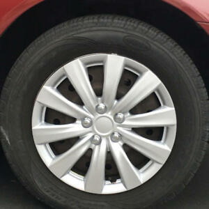 Premium Abs 16 Silver Hubcaps Car Wheel Covers Replacement 4 Pack