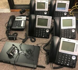 At t Syn248 4 Line Expandable To 8 Business Phone System 6 Desksets 1 Gateways