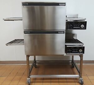 Lincoln Impinger Double 1132 Conveyor Pizza Ovens Electric