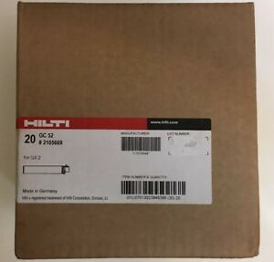 Hilti 20 Pc Case Gc 52 2105669 Gas Can Gc 52 For Gx 2 New Hilti Exp 6 2020
