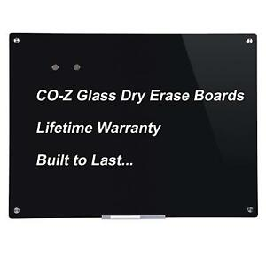 Magnetic Dry Erase Board Frameless Glass Whiteboard Note Memo Eraser 48 X 36