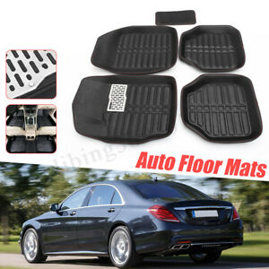 Car Floor Mats Front Rear Carpet Universal Auto Mat All Weather Waterproof 5pc