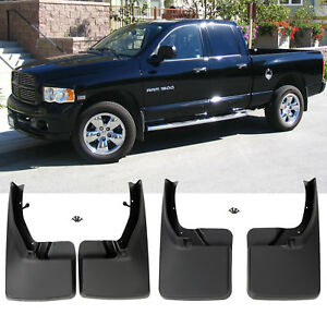 For 2009 2018 Dodge Ram 1500 2500 3500 4pcs Front Rear Mud Flaps Splash Guards