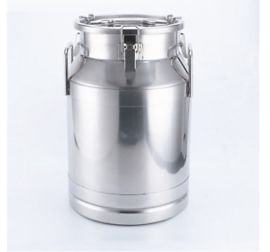 50l 13 25 Gallon 304ss Milk Can Wine Pail Bucket Tote Jug In One Piece