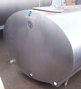600 Gallon Mueller Oh49381 Stainless Steel Bulk Milk Cooling Farm Tank