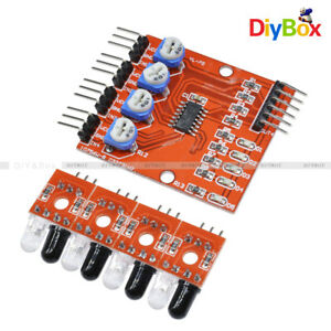 4 Channel Infrared Detector Tracked Photoelectricity Sensor 4ch For Smart Car