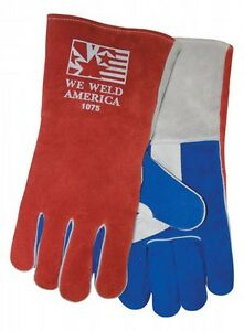 Tillman 1075 Large Stick Welding Gloves We Weld America Premium Cowhide 6 Pairs