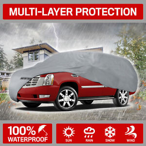Motor Trend Outdoor Full Car Cover 4 layer For Van Suvs Crossovers Up To 210