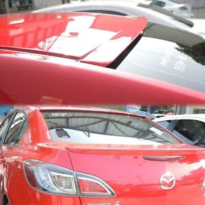 Painted All Color For Mazda 3 2010 2013 Axela 2nd 4d Sedan Roof Spoiler Wing Vip
