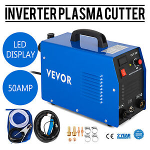 Plasma Cutter 50 Amp Dual Voltage Efficient 12mm Cutting Machine Free Warranty