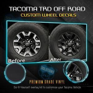Fit 2016 2019 Toyota Tacoma Trd Offroad Wheels Vinyl Decal Solid Flat Matte