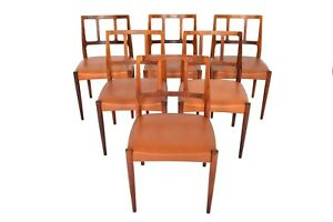 Set Of Six Danish Modern Johannes Andersen Louise Rosewood Dining Chairs