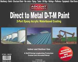 Direct To Metal Dtm Paint 2 part Epoxy Coating Interior exterior 1 Gal White