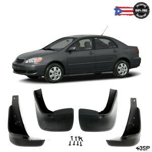 Mud Flaps Splash Guards Fit For 03 08 Toyota Corolla Rear Front Complete 4pcs